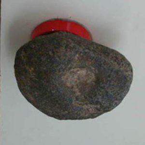 ドアノブ:自然石