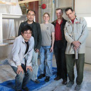 中央の二人が作業に協力してくれた。右がMark、左が通訳してくれた鈴森さん。