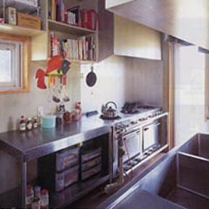 業務用キッチン。